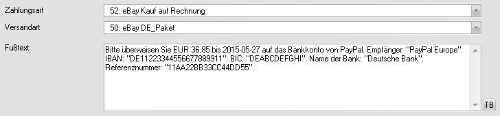eBay Kauf auf Rechnung Zahlungsanweisung