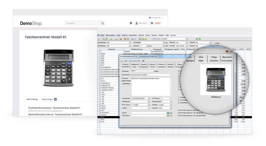 Datenaustausch zwischen MERCATOR und Shpware
