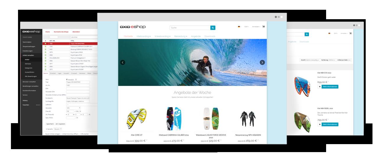 OXID eShop Screenshots