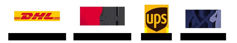 Logos der unterstützten Versanddienstleister