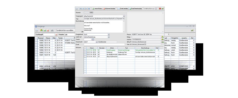Vorgänge in der ERP CRM Software